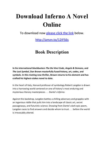 Download Inferno A Novel Online By Greatreview100 Issuu