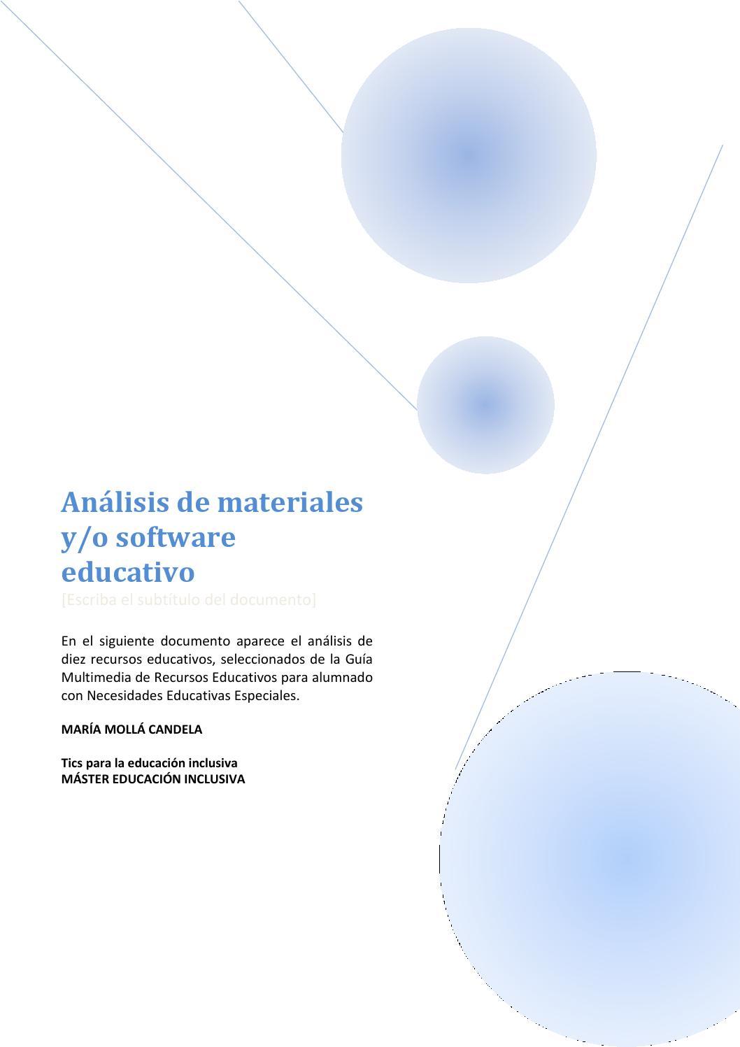 Ficha de materiales software by Molla Candela - issuu