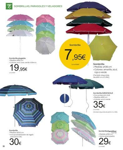Catalogo ofertas carrefour junio 2013 by carrefour online for Sombrillas jardin carrefour