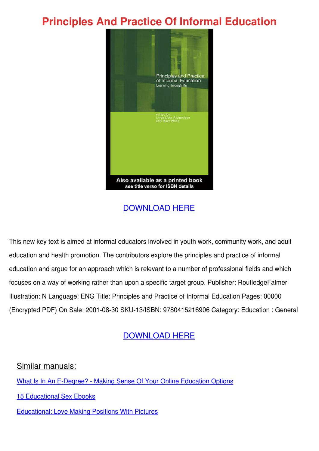 Informal and incidental learning in the workplace pdf creator