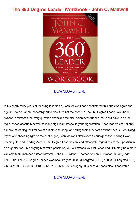 360 Degree Leader Pdf