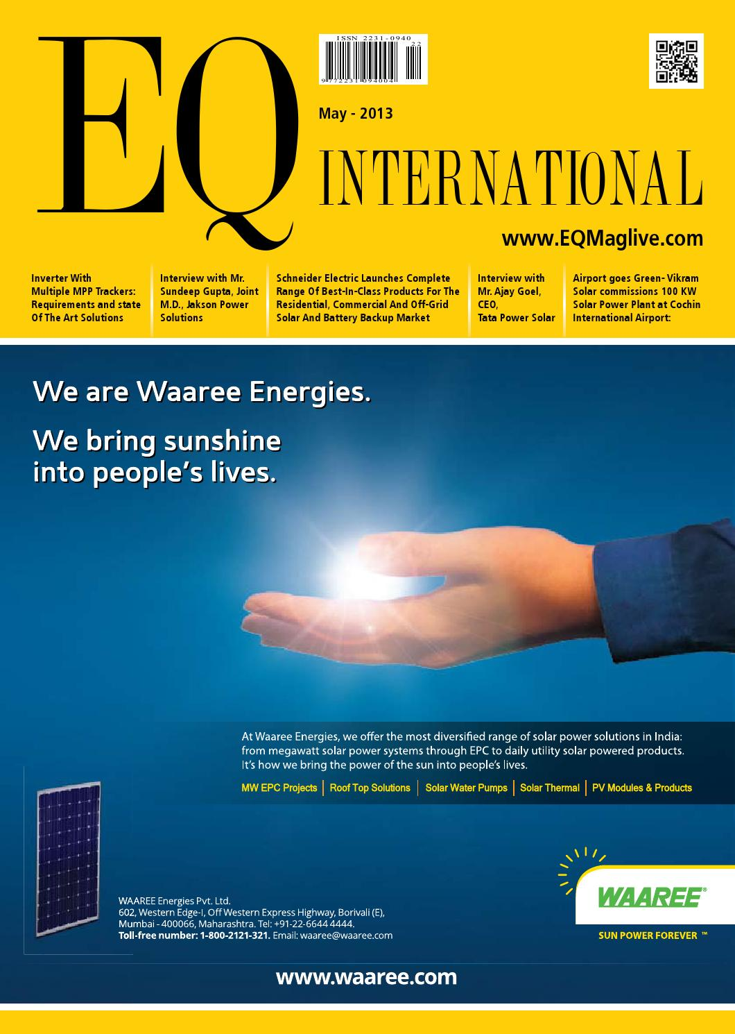Eq Intl May 2013 Issue By Solar Media Group Issuu Inverter Air Conditioner Renesas Electronics India