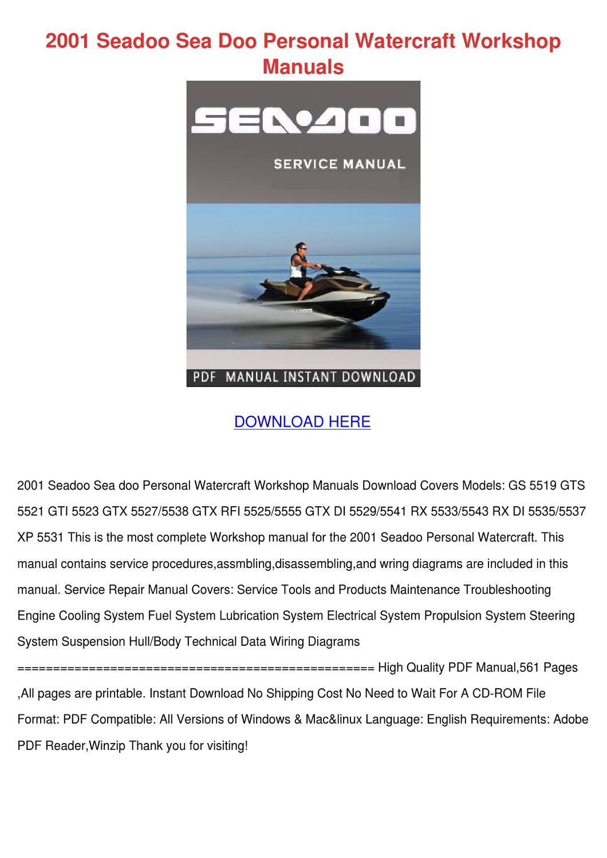 2001 Seadoo Sea Doo Personal Watercraft Works by LanoraHoke - issuu