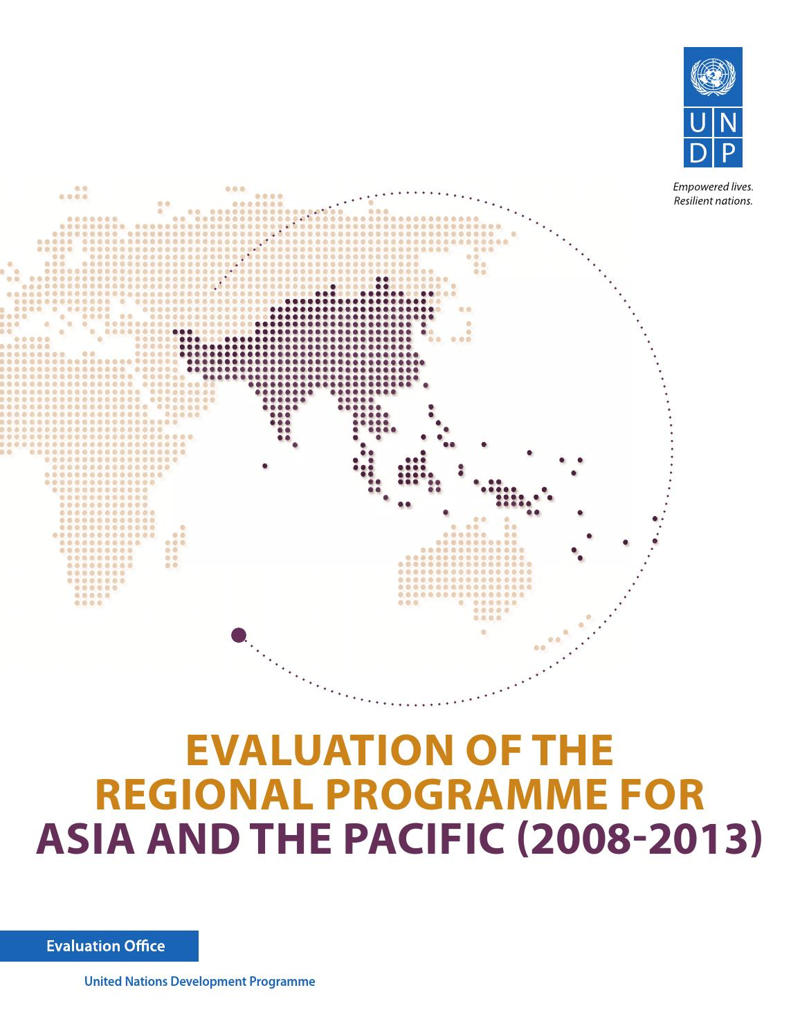 Evaluation of the Regional Programme for Asia and the Pacific (2008
