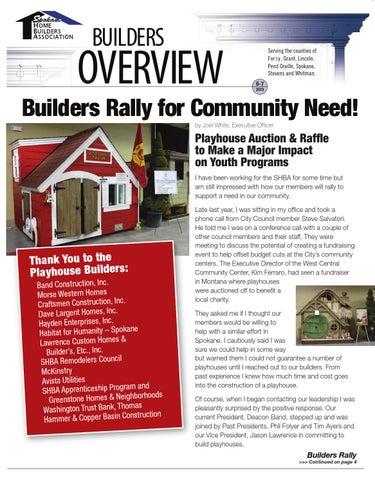 June july 2013 by spokane home builders association issuu for Lawrence custom homes spokane