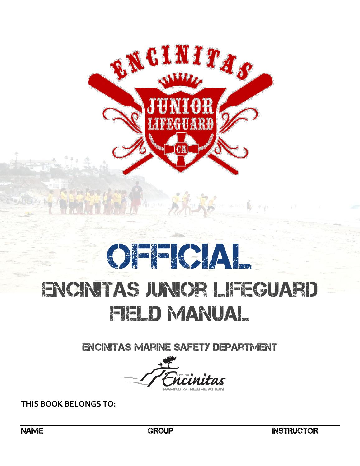 6da4f4811e41 Official Encinitas Junior Lifeguard Field Manual by Encinitas Parks and Rec  - issuu