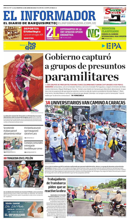 00317fee0 Elinformador2013 06 11 by El Informador - Diario online Venezolano - issuu