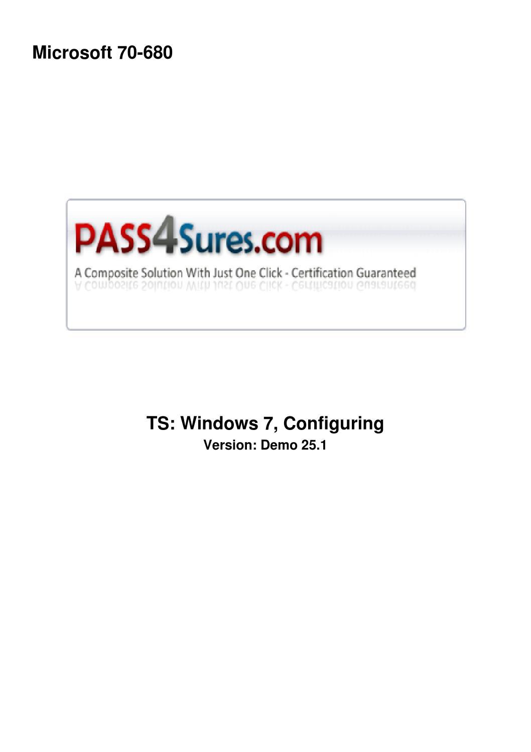 70 680 Ts Windows 7 Configuring By Lizajackson Issuu