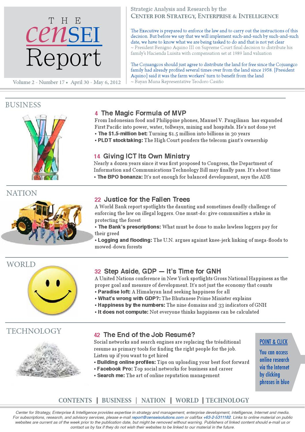 TCR Volume 2 Issue No 17 by The CenSEI Report - issuu