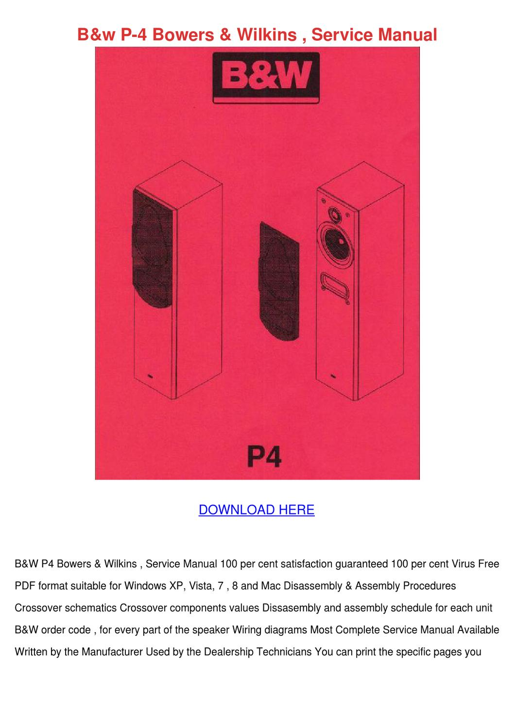Bw P 4 Bowers Wilkins Service Manual By Tamsmalley