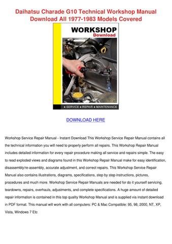 g10 engine workshop manual