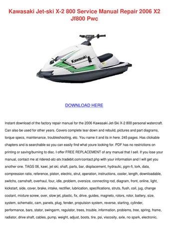 Kawasaki Jet Ski X 2 800 Service Manual Repai by NikoleOneill - issuu