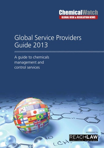 Array - chemical watch global service providers guide 2013 by chemical watch      rh   issuu com