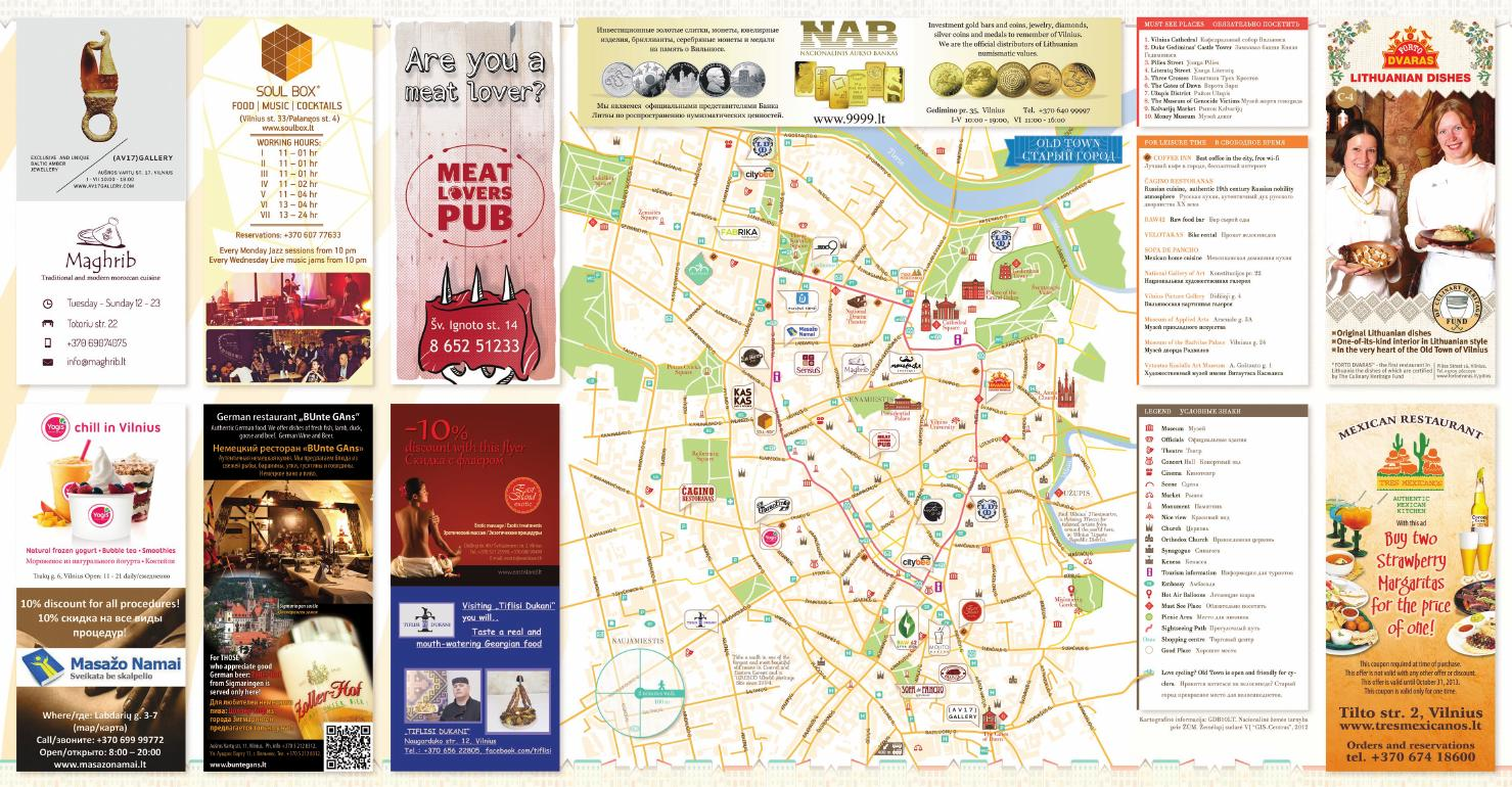 Vilnius Old Town map 2013 summer - autumn by Made in Vilnius ... on map old town copenhagen, map chicago old town, map prague old town, map bucharest old town, map salzburg old town,