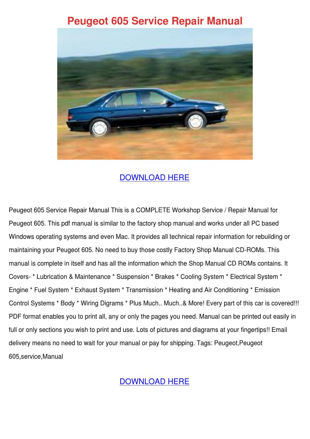Peugeot 405 Wiring System | Wiring Library