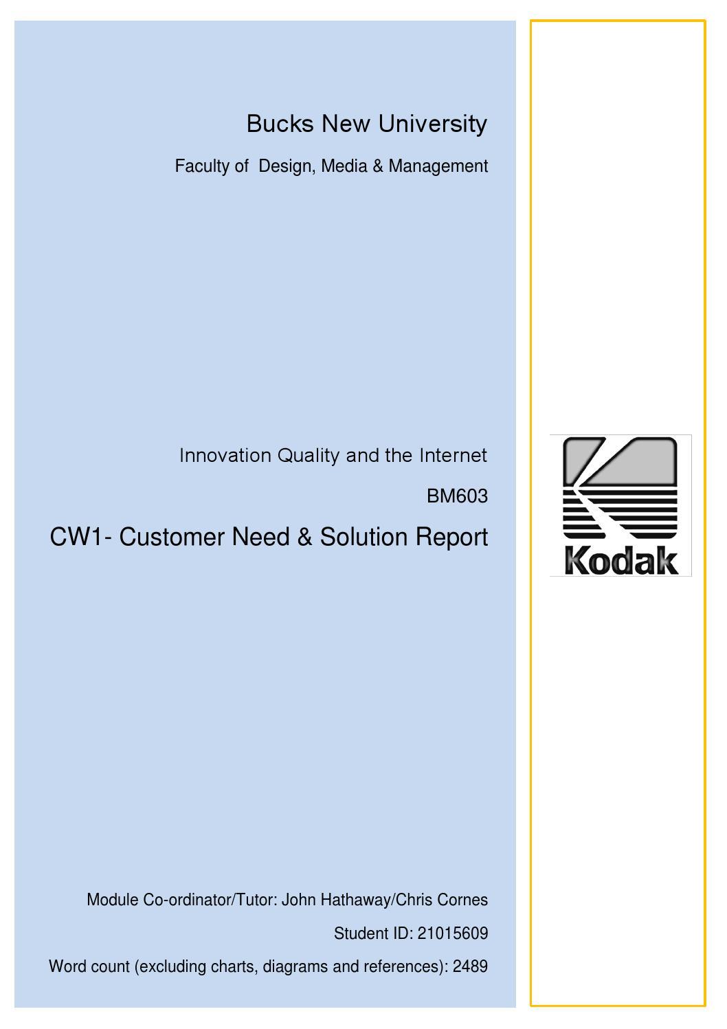 kodak external analysis Kodak case study srn 162658 1 summary 2  introduction of eastman kodak company 3 analysis of strategic position of kodak a analysis of external environment i .