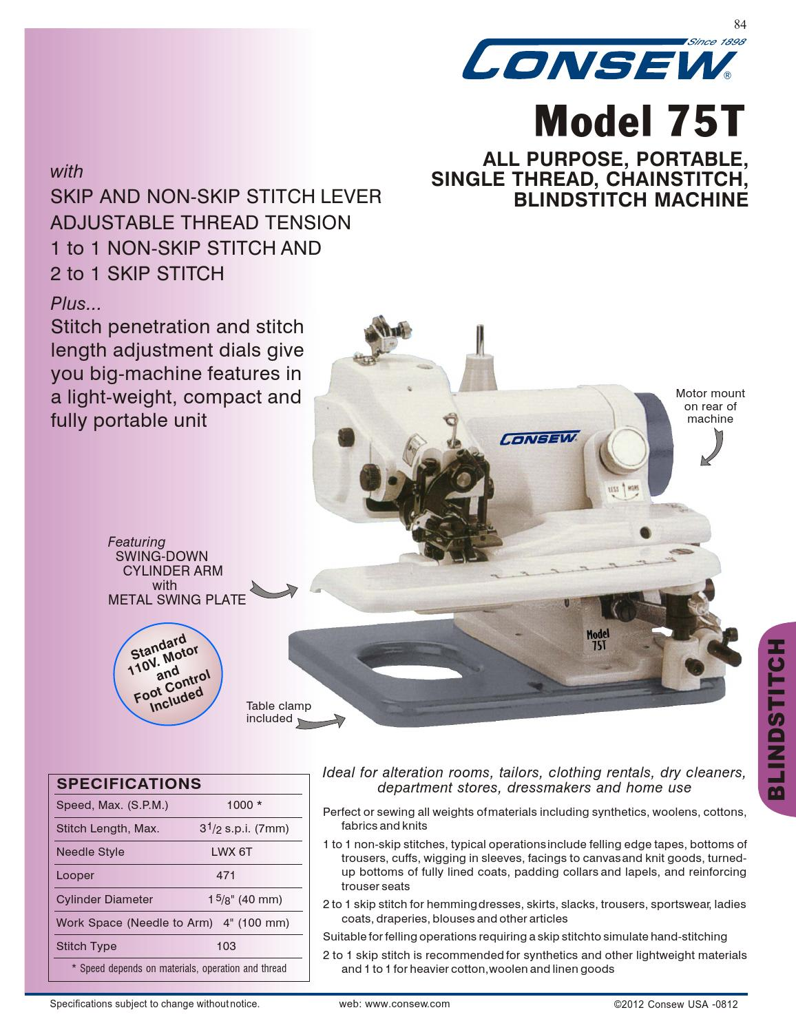 Looper For Consew 75T Portable Blindstitch Sewing Machine