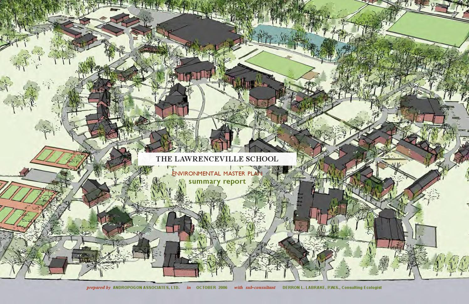 Lawrenceville School Environmental Master Plan By
