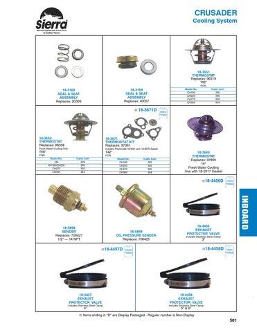 New Sierra Misc Engine Parts 18-4349