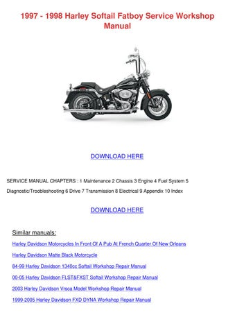 1997 1998 harley softail fatboy service works by alexanderwiese issuu rh issuu com Orange Harley -Davidson Fatboy Fatboy Harley Rat Bikes