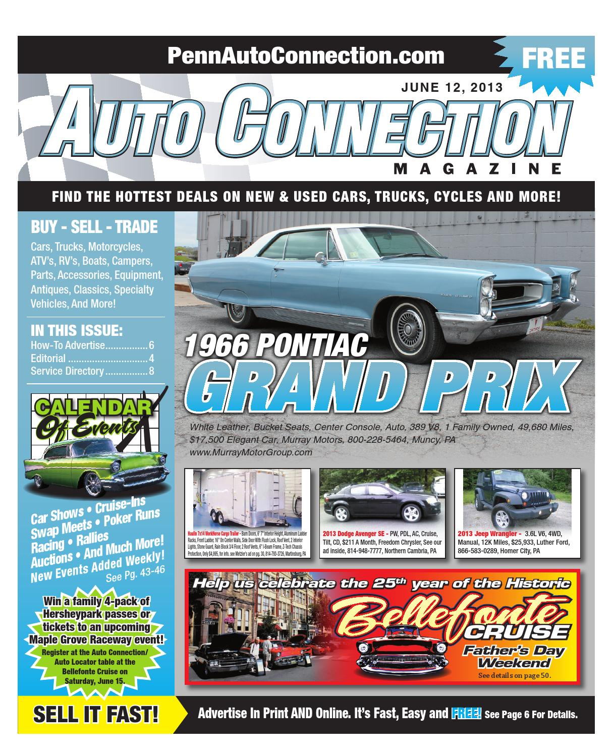 06 12 13 auto connection magazine by auto connection for Murray motor company muncy pa