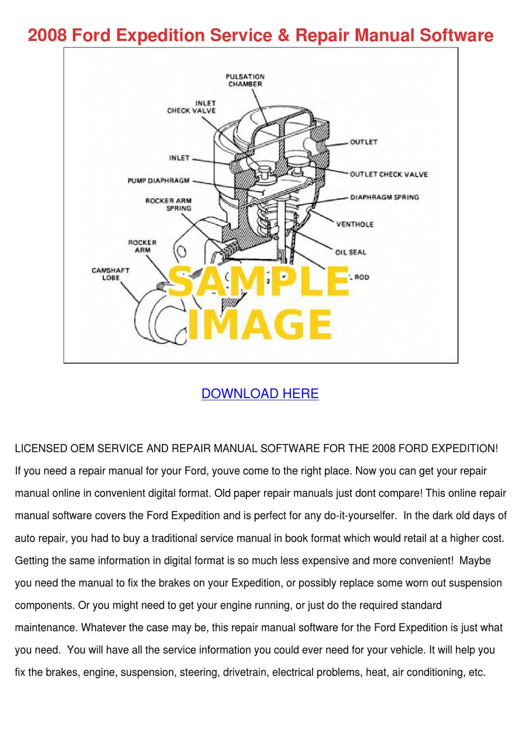 2008 Ford Expedition Service Repair Manual So by KarenGuthrie - issuu