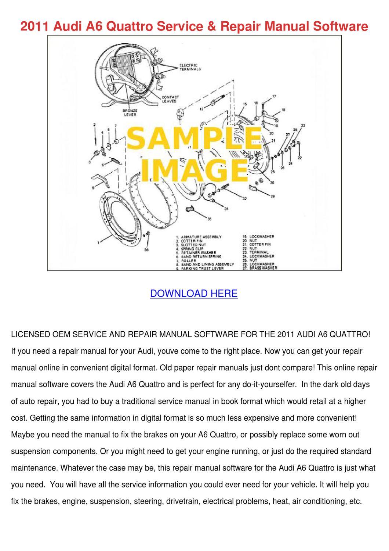2011 audi a6 brochure pdf aus