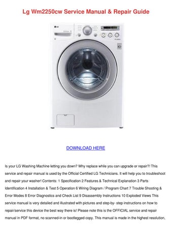 Lg Wm2250cw Service Manual Repair Guide By Shanephifer Issuu
