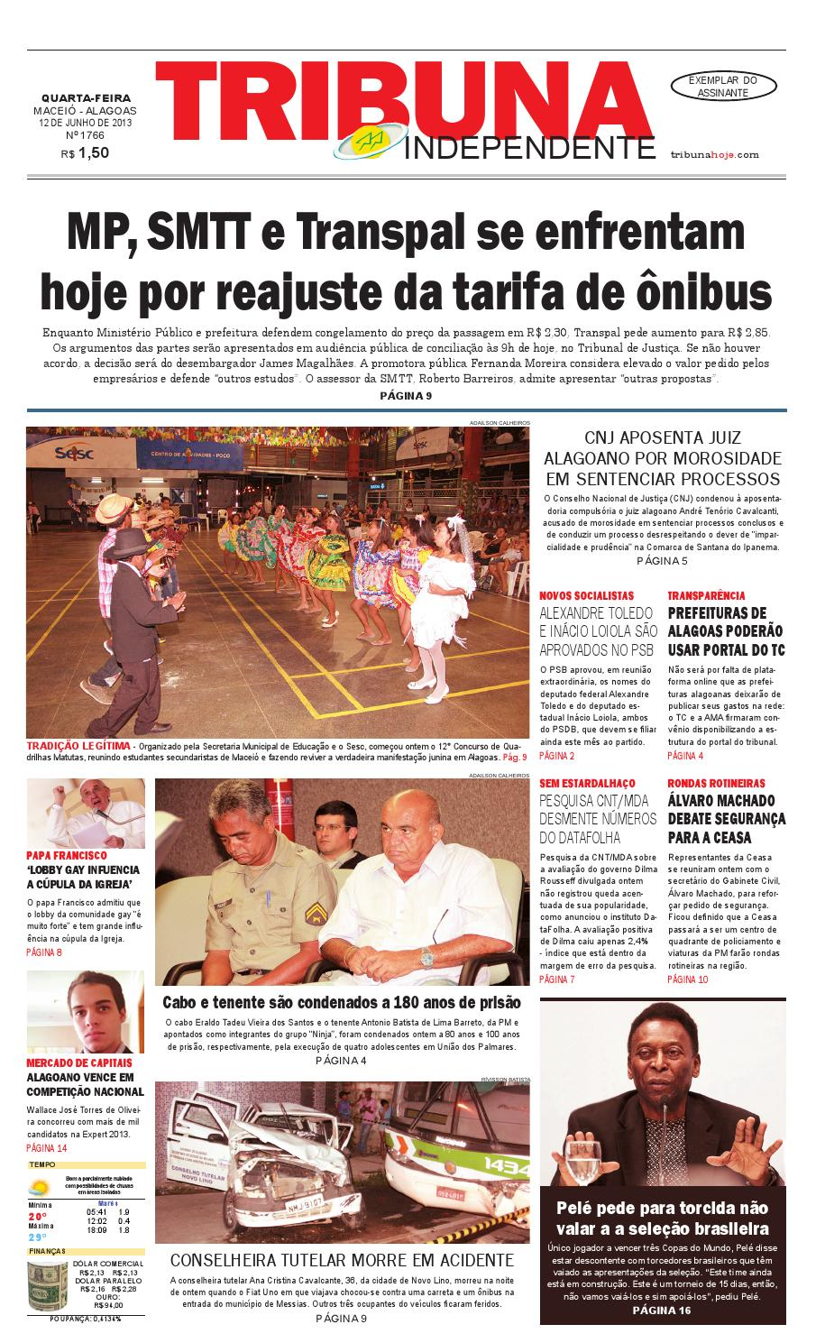 Edição número 1766 - 12 de junho de 2013 by Tribuna Hoje - issuu 4aebaba50dbdc