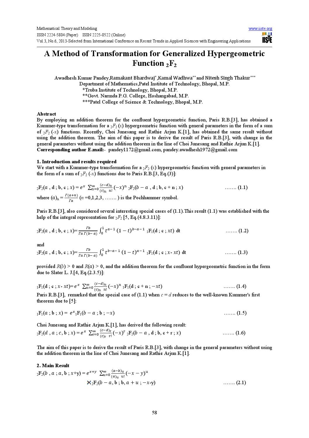 essays on the theory of elliptic hypergeometric functions Please select one of the following sources for this article: iop publishing: iop publishing hosts the online versions of all turpion journals, providing full text access for current subscribers and pay-per-view access for non-subscribers.
