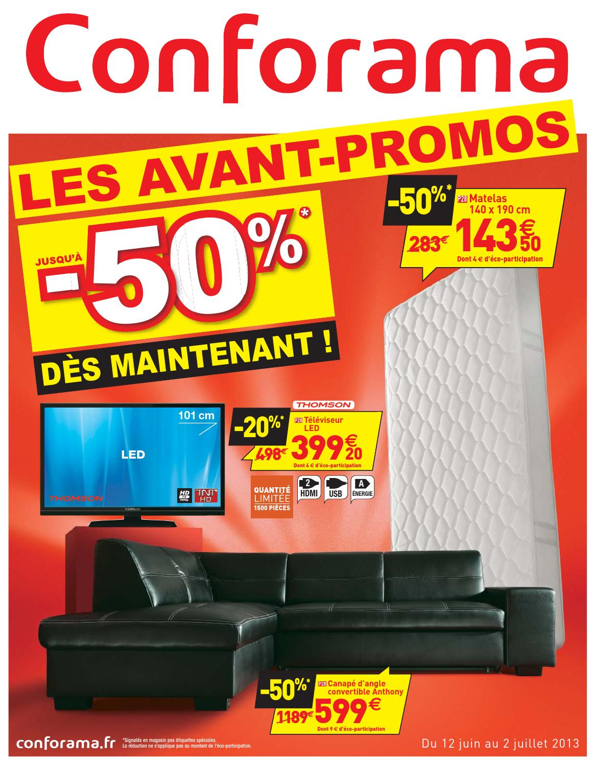 Conforama catalogue 12 juin-2 juillet 2013 by PromoCatalogues.com ...
