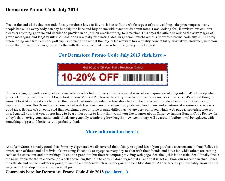 Dermstore coupon code