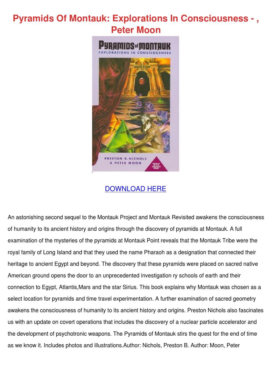 pyramids of montauk explorations in consciousness pdf