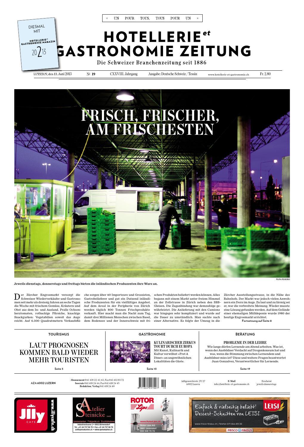 HetG Zeitung 19 2013 By Hotellerie Gastronomie Verlag