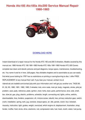 honda atc185 atc185s atc200 service manual re by nevamiddleton issuu