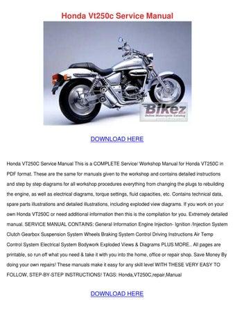 honda vt250c service manual by nevamiddleton issuu rh issuu com honda vt 250 service manual honda vt250c service manual pdf