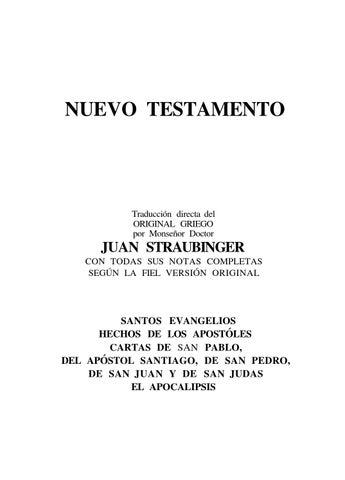 Biblia straubinger nt (reconocida) by Tico De La Pampa - issuu