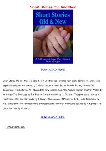 Short Stories Old And New by RonnyReis - Issuu