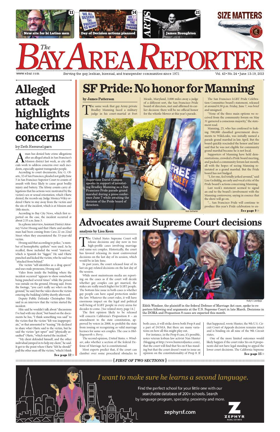 June 13, 2013 Edition of the Bay Area Reporter