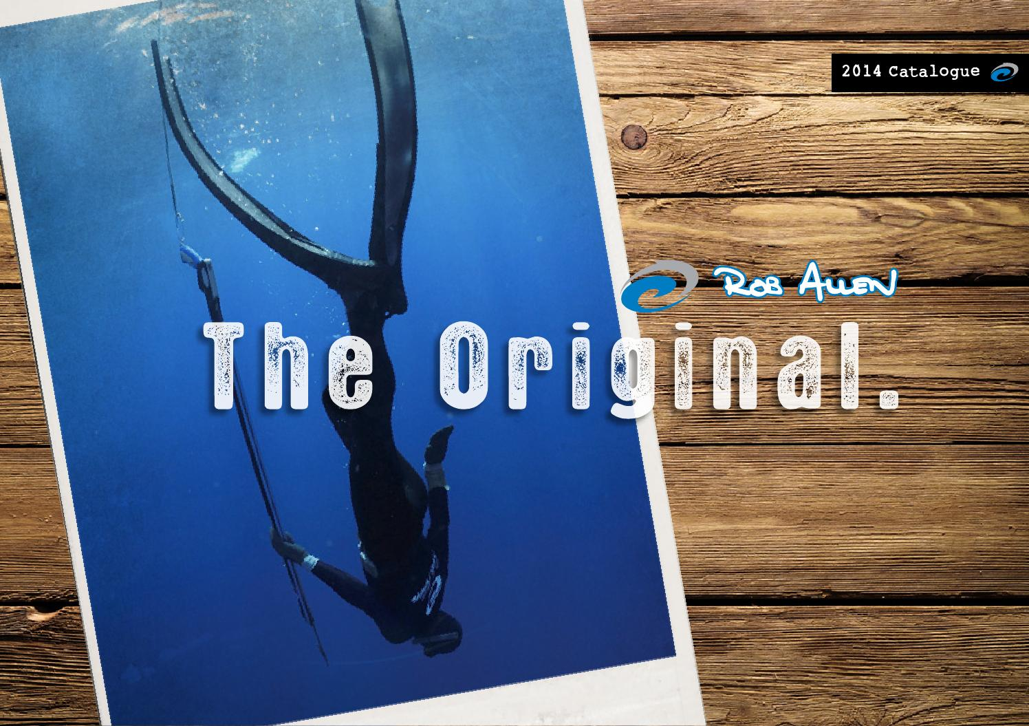 Rob Allen Scorpia Fins Size LG Long Fin Full Foot Freedive Snorkel Spearfishing
