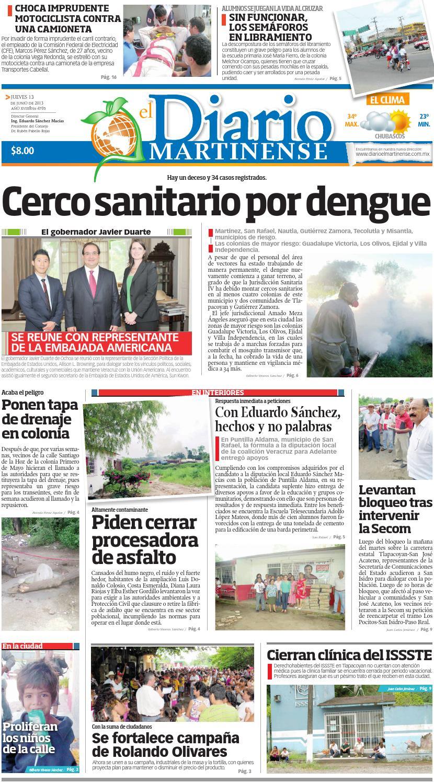 Diario El Martinense 13 De Junio De 2013 By Diario De Poza Rica Sa  # Muebles Naldo Lombardi