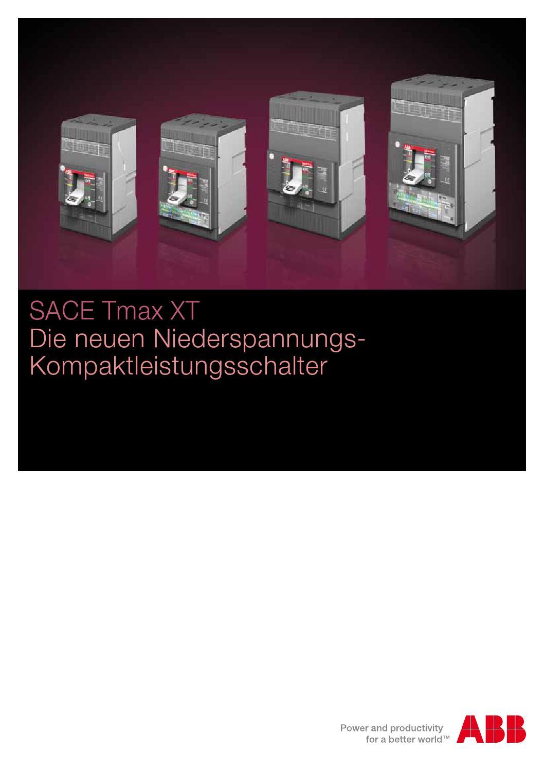 SACE Tmax XT Niederspannungs Kompaktleistungsschalter by ABB ASJ - issuu