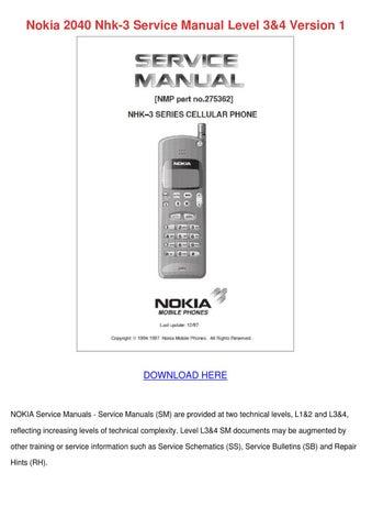 nokia 2040 nhk 3 service manual level 34 vers by sherrillschwartz rh issuu com Droid X Manual iPhone 3G Manual