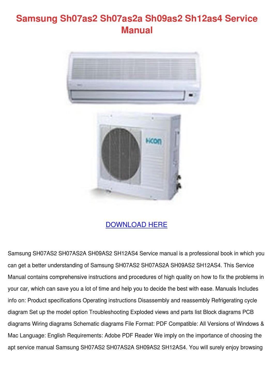 Samsung Sh07as2 Sh07as2a Sh09as2 Sh12as4 Serv by EveDuong - issuu