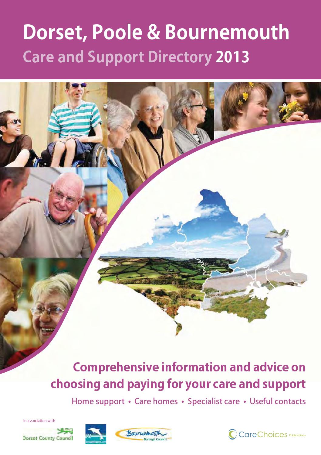 Dorset Poole Bournemouth Care And Support Directory 2013 By Choices Ltd