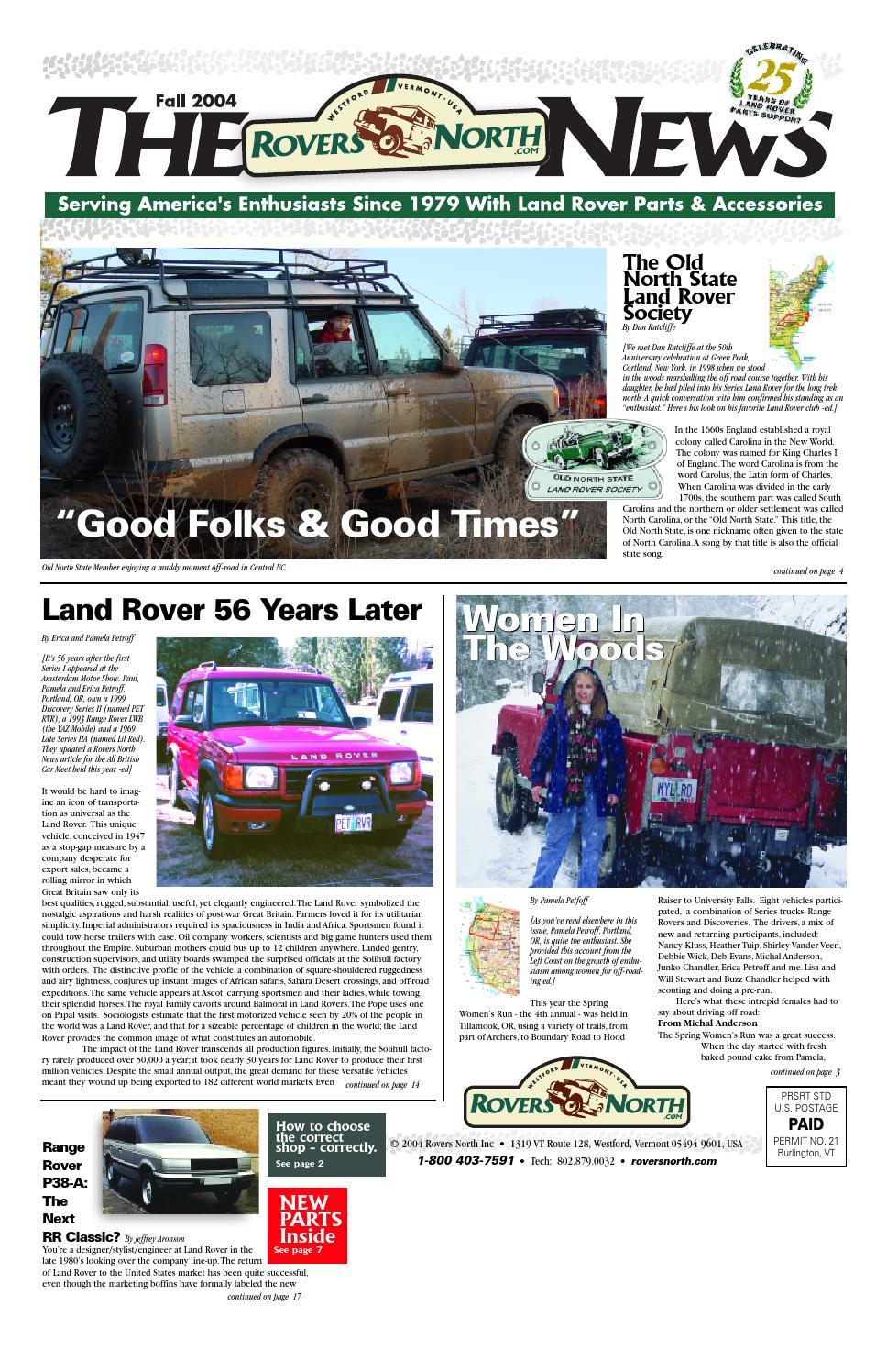 Fall 2004 Rovers North News By Issuu Blower Unit Denso Jeep Cj7