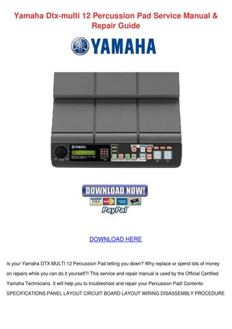 yamaha dtx multi 12 percussion pad service ma by kendrajoyner issuu rh issuu com yamaha dtx multi 12 manual español pdf yamaha dtx multi 12 manual english