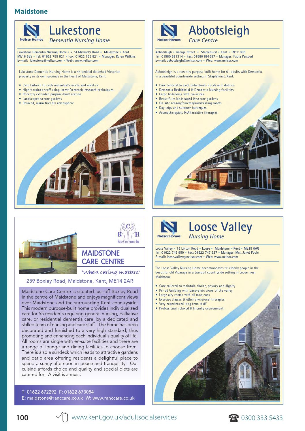 Kent Care Directory 2013 14 By Choices Ltd