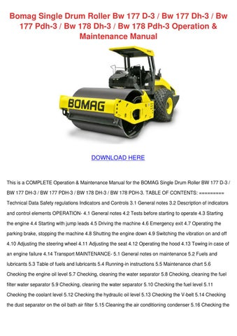 bomag mph122 stabilizer recycler service training manual download