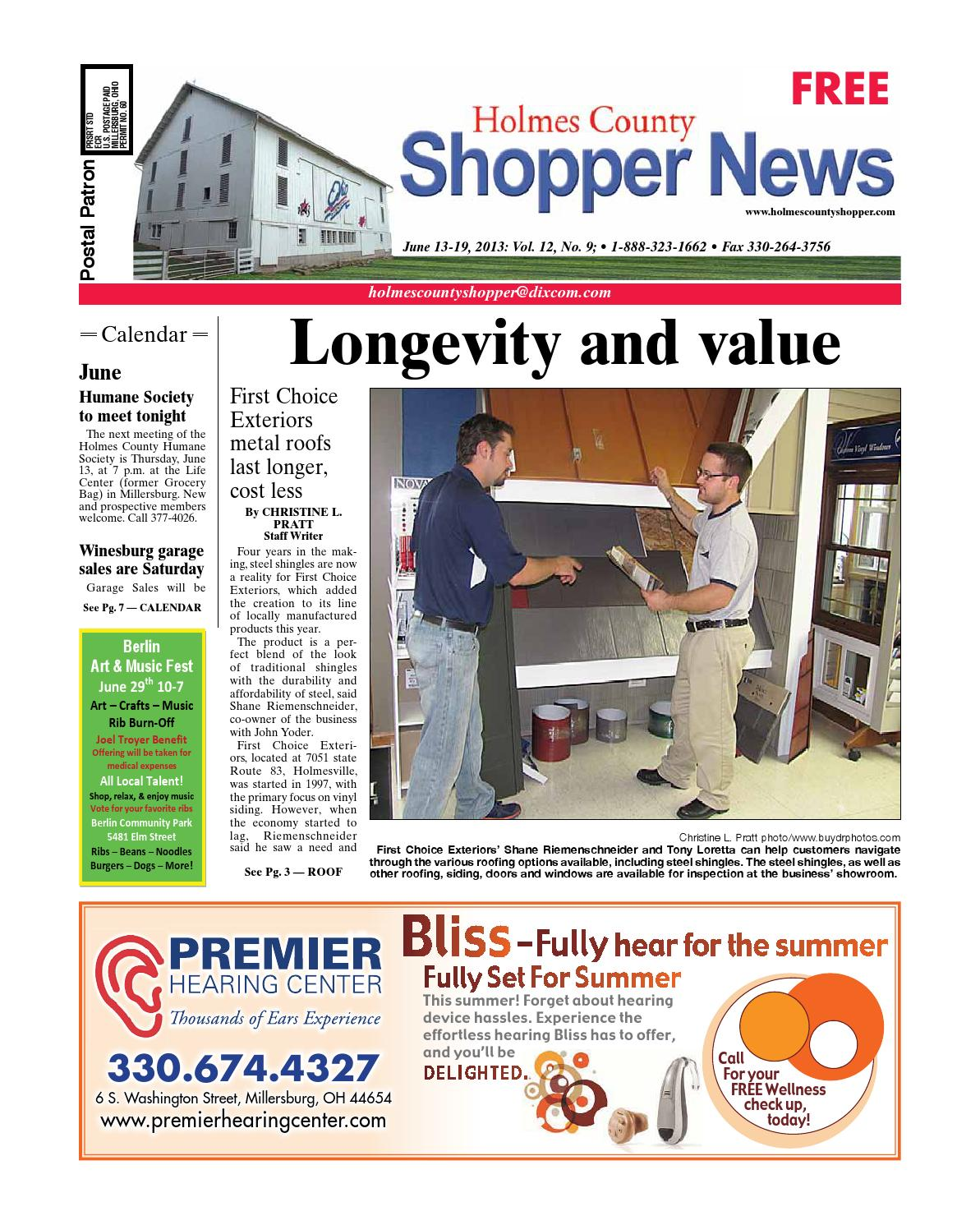 Holmes County Shopper June 13 2013 By GateHouse Media NEO